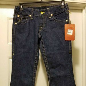 NWT Womens True Religion Twisted Boot Cut Jeans 30